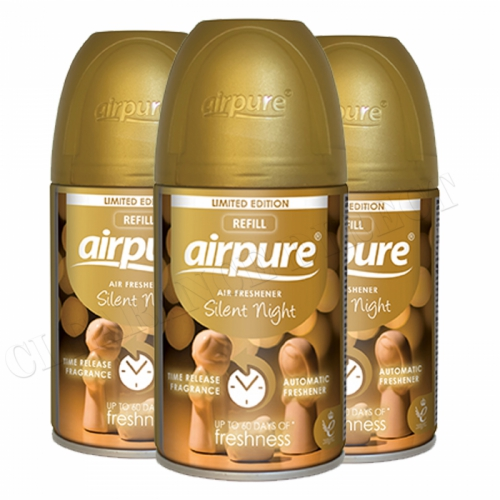 Airpure Air Freshener Automatic Silent Night Christmas Limited Edition 250ml x 3