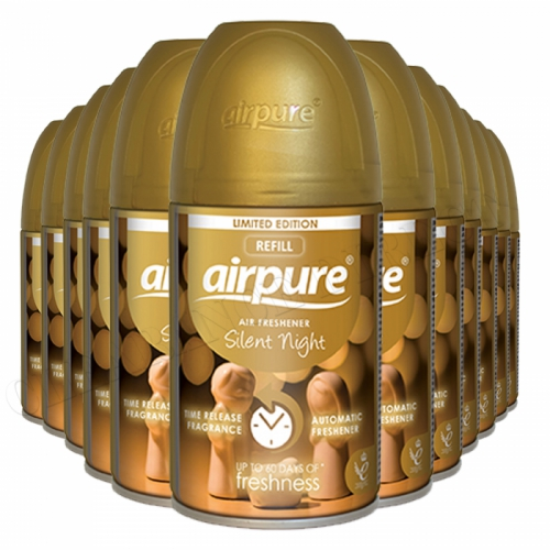 Airpure Air Freshener Automatic Silent Night Christmas Limited Edtion 250ml x 12