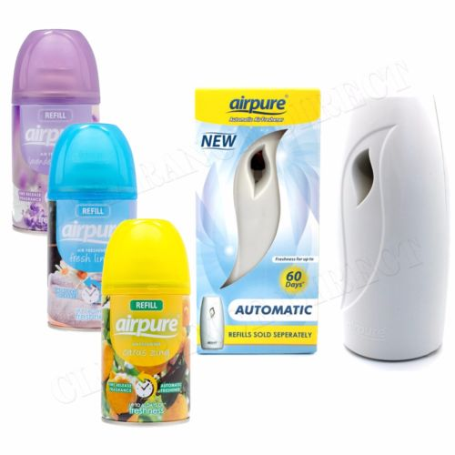 Airpure Air Freshner Automatic Spray Machine 3x Fragrances Refills FREE POSTAGE