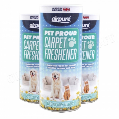 Airpure Pet Proud Carpet Freshener (3 x 350g) Wild Country Flowers