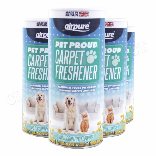 Airpure Pet Proud Carpet Freshener (4 x 350g) Wild Country Flowers