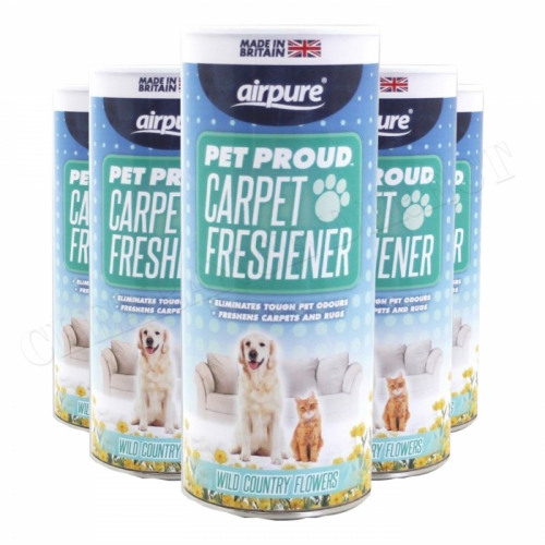 Airpure Pet Proud Carpet Freshener (5 x 350g) Wild Country Flowers