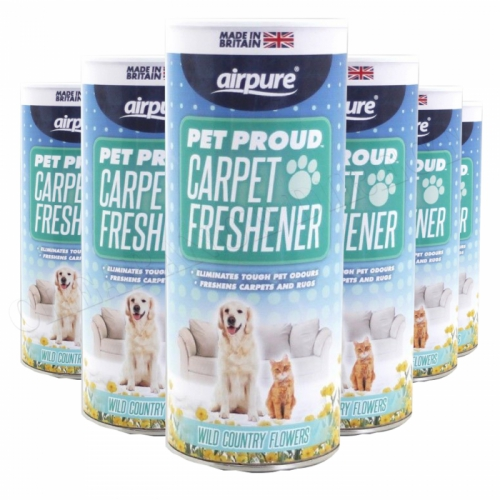 Airpure Pet Proud Carpet Freshener (6 x 350g) Wild Country Flowers