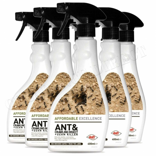 Ant Killer Spray Doff Ant & Crawling Insect Killer 400ml Fasting Action x 6