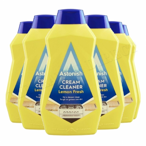 Astonish Cream Cleaner 500ml Lemon Fresh 6 Pack kitchen Bathroom Vegan Friendly