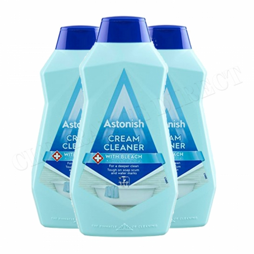 Astonish Cream Cleaner With Bleach 500ml 3 Pack kitchen Bathroom Vegan Friendly