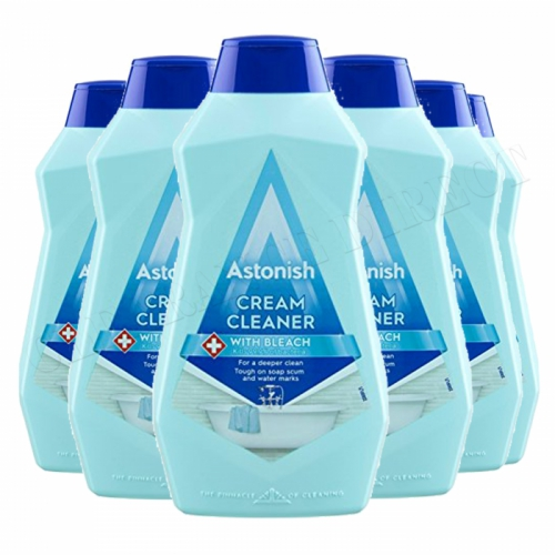 Astonish Cream Cleaner With Bleach 500ml 6 Pack kitchen Bathroom Vegan Friendly