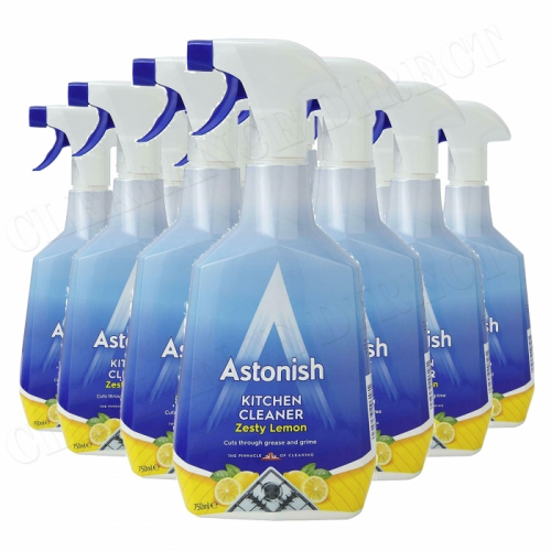 Astonish Kitchen Cleaner Spray - Zesty Lemon - 750ml 12 Pack