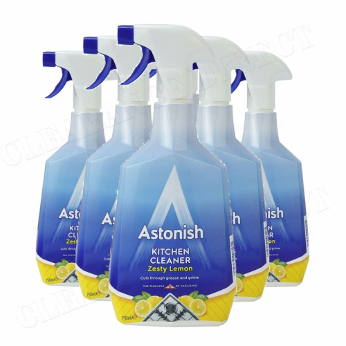 Astonish Kitchen Cleaner Spray - Zesty Lemon - 750ml 6 Pack
