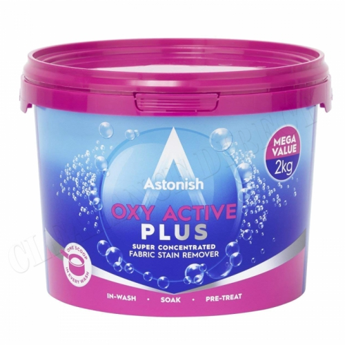 Astonish Laundry Multi-purpose Oxy Plus Stain Remover Cleaner Tub 2kg