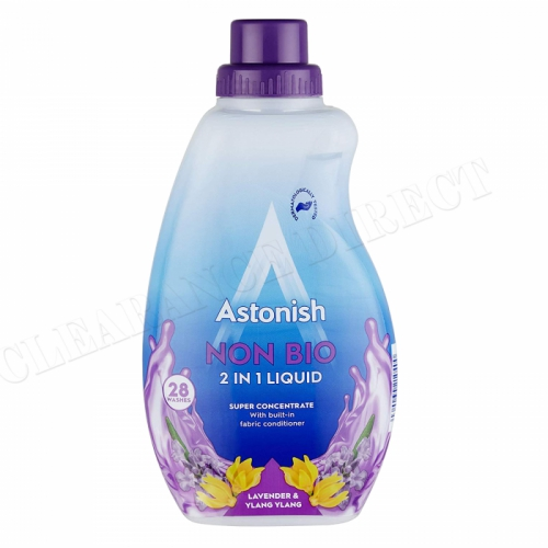 Astonish Non Bio 2 In 1 Laundry Liquid Wash Lavender And Ylang Ylang 840ml