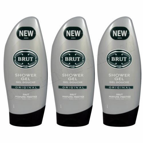 BRUT ORIGINAL SHOWER GEL 250 ML 3 PACK FREE DELIVERY