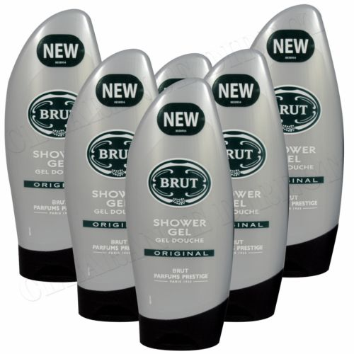 BRUT ORIGINAL SHOWER GEL 250 ML 6 PACK FREE DELIVERY