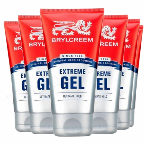 BRYLCREEM HAIR GEL 150ML Extreme Gel x 6 Ultimate Hold Men's Grooming
