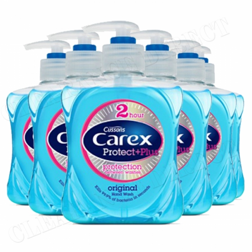 Carex Protect + Plus Original Handwash (250ml) 2 Hrs Protection - Pack of 6
