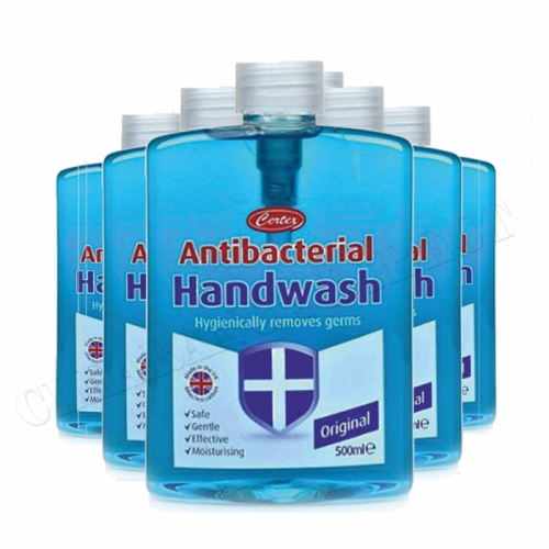Certex Anti-Bacterial Handwash 500ml x 6