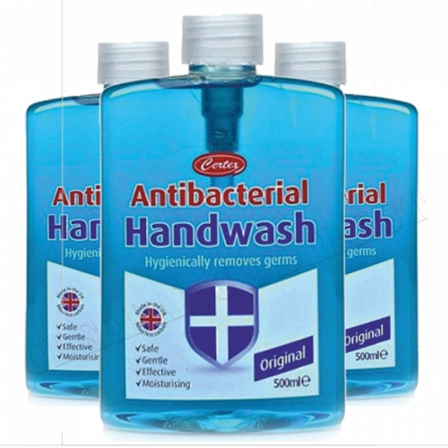 Certex Anti-Bacterial Handwash Original Gentle Effective Moisturising 500ml x 3