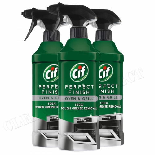 Cif Oven and Grill Specialist Cleaner Spray, 435 ml x 3