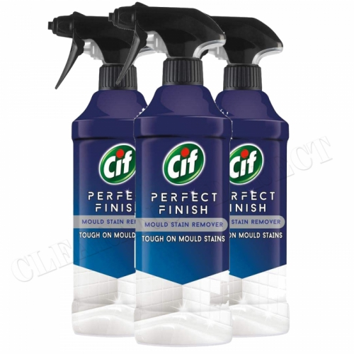 Cif Perfect Finish Mould Stain Remover x 3 Powerful cleaner with bleach 435 ml