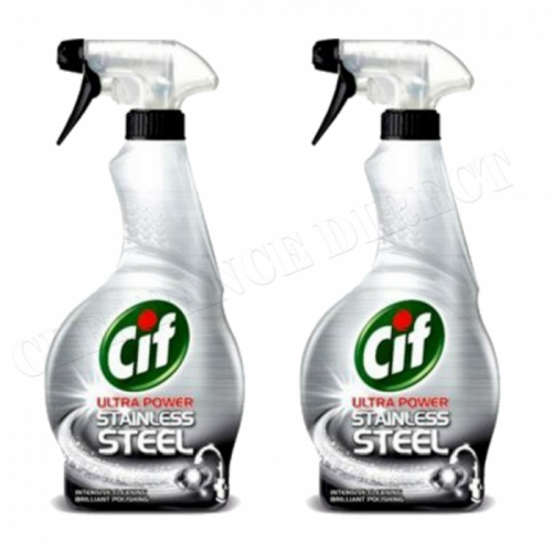 Cif Stainless Steel Cleaner 450 ml Trigger Spray x 2