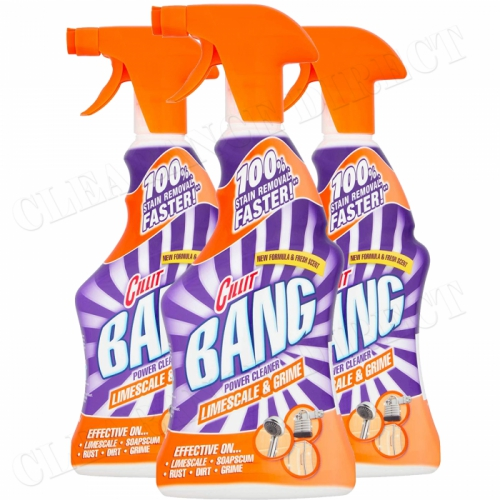 Cillit Bang Limescale & Grime Spray Power Cleaner 500ml Pack of 3
