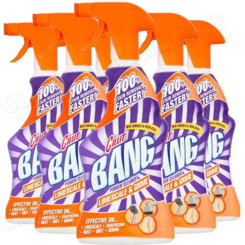 Cillit Bang Limescale & Grime Spray Power Cleaner 500ml Pack of 6
