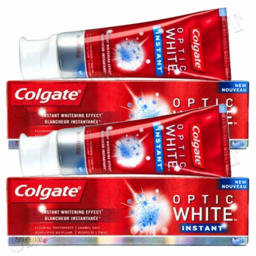 Colgate Whitening Toothpaste OPTIC WHITE INSTANT WHITENING EFFECT 75ml x 2