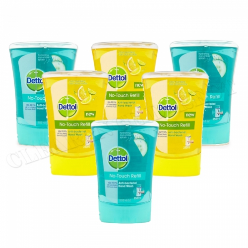 Dettol No Touch Handwash Refills Cucumber & Citrus Anti-Bacterial x 6