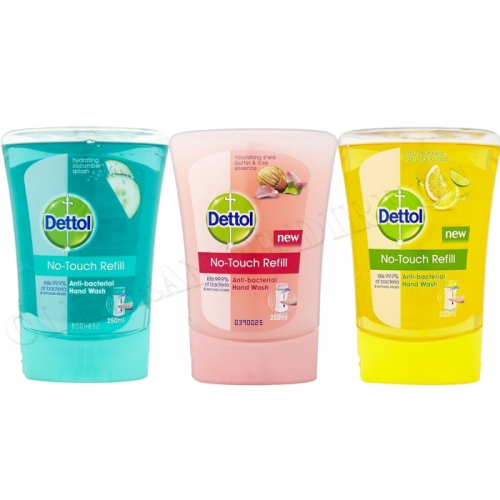 Dettol No Touch Handwash Refills Cucumber, Citrus, Shea Butter & Rose Essence