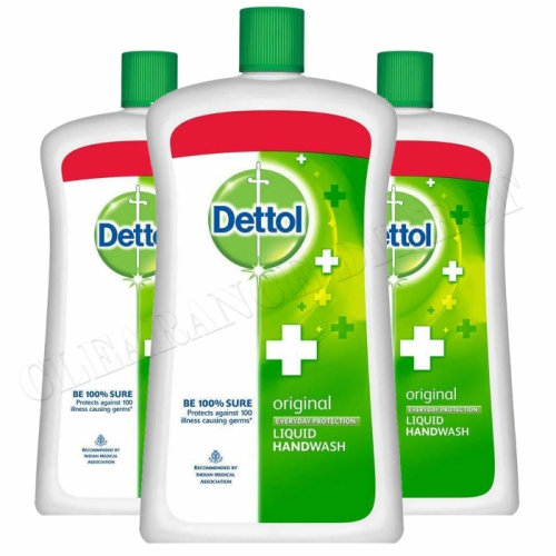 Dettol Original Germ Protection Handwash Liquid Soap Extra Large Bottle, 900ml x 3