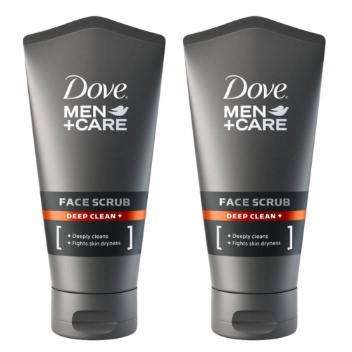 Dove Men + Care Deep Clean Face Facial Scrub 150ml x 2
