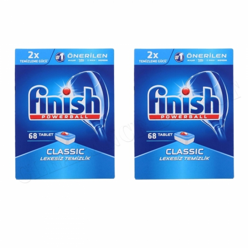 Finish Powerball Classic Dishwasher Tablets 68 Household Products x 2