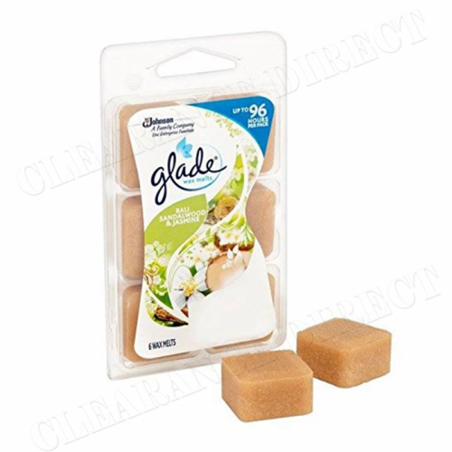 Glade Wax Melts - Bali Sandalwood & Jasmine 6 cubes 66 g up to 96 hours Per Pack