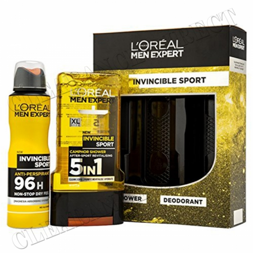 L'Oreal Men Expert Invincible Sport 2-Piece Gift Set Shower Deodorant