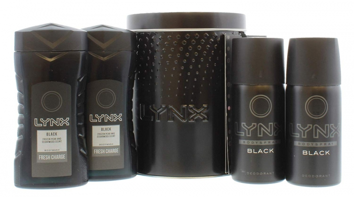 Lynx Black Mini Edition Tin Mens Gift Set