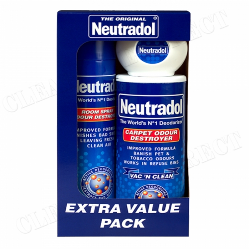 NEUTRADOL ORIGINAL EXTRA VALUE PACK SPRAY,CARPET & GEL BOX SET