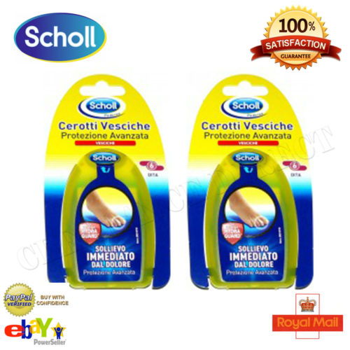 NEW 2 x Scholl Blister Shield Plasters Instant Pain Relief 6 Small FREE POSTAGE