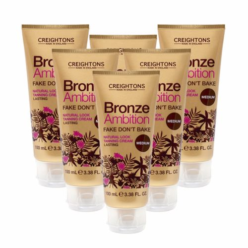 **NEW** 6 x CREIGHTONS BRONZE AMBITION FAKE DONT BAKE NATURAL LOOK TANNING CREAM