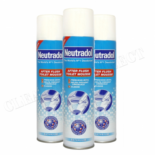 Neutradol After Flush Toilet Mousse 300 Ml x 3 Helps to prevent lime-scale