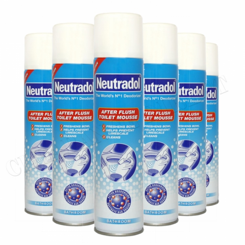 Neutradol After Flush Toilet Mousse 300 Ml x 6 Helps to prevent lime-scale