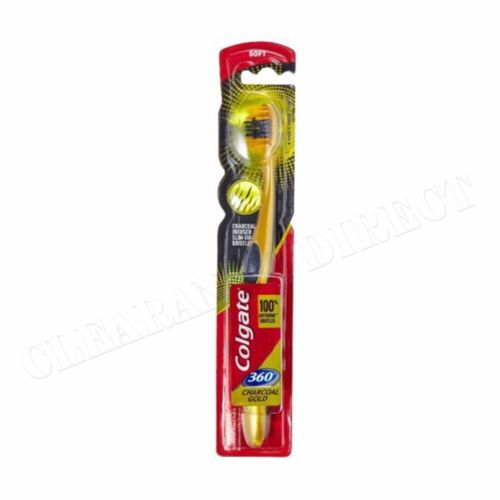 New Colgate Charcoal Gold Tooth Brush Soft 360 Anti Germ  FREE POSTAGE
