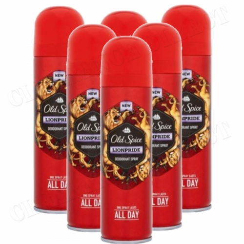 Old Spice Lionpride Deodorant Body Spray 150ml x 6