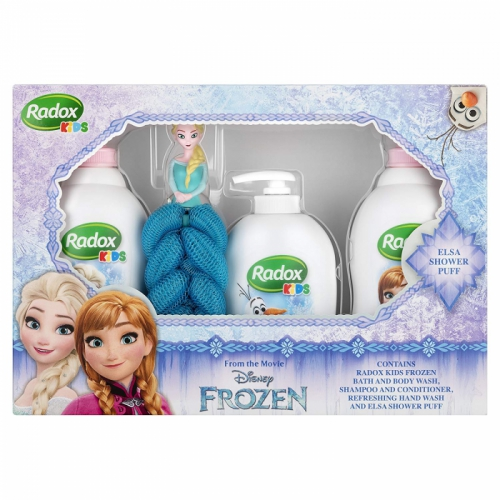 Radox Kids Disney Frozen Feel Enchanted Trio Gift Set Elsa Bath Puff